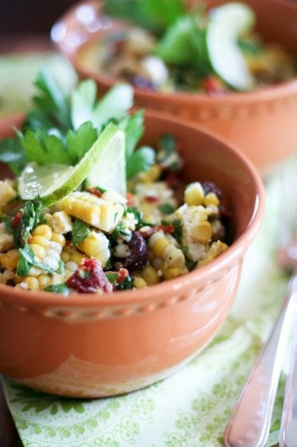 Oven Roasted Corn Salad