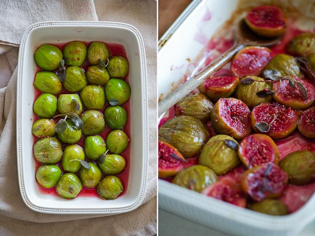 roasted figs recipe roasted at 400 degrees for 20 min with honey, red ...