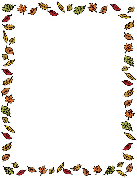 free fall borders clip art thanksgiving Car Tuning