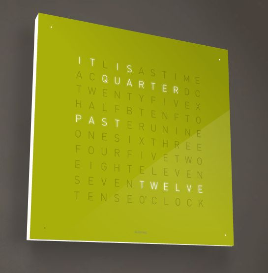 the qlocktwo clock by biegert funk for the home pinterest. Black Bedroom Furniture Sets. Home Design Ideas