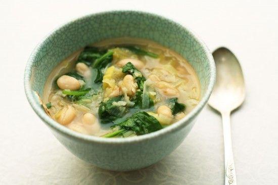 quinoa white bean soup | Soothing Soups & Freezer Foods | Pinterest