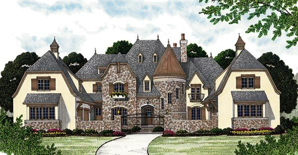 European house plan 96914 for European country house plans