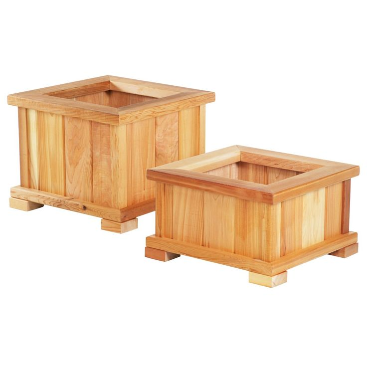 Wood Country Square Cedar Wood Nampa Patio Planter