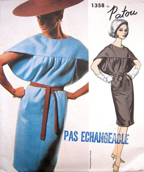 RARE 1960s Patou Vogue Paris Original 1358 Dress by PatternGal, $95.00