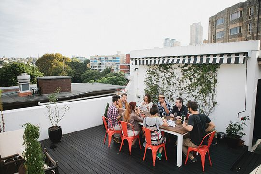 Rooftop party patio // Kinfolk