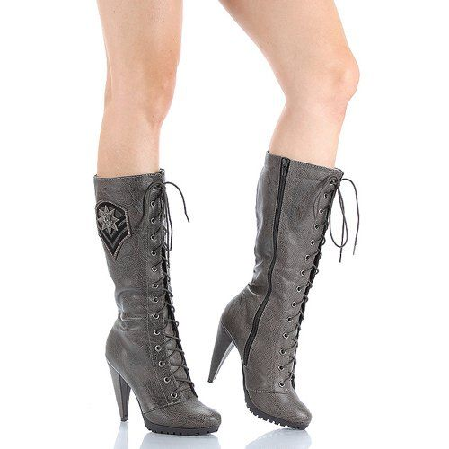 Women's lace up cowboy boots.. Womens, boots, heels, fashion, 2013