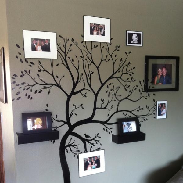 Family tree on my living room wall!