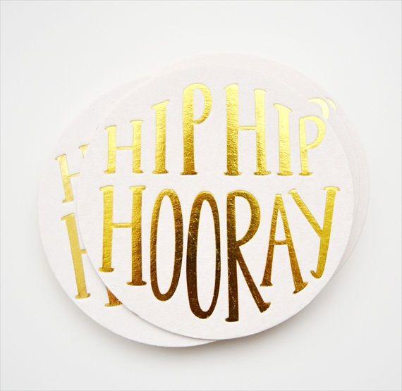 hip hip hooray wedding coaster