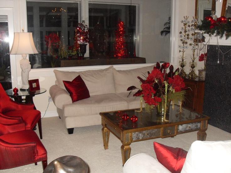 Living Room During Christmas Christmas Decor Pinterest