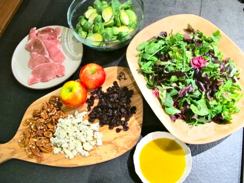 Apple, Pecan, and Blue Cheese Salad with Dried Cherries..a la Chrissy ...