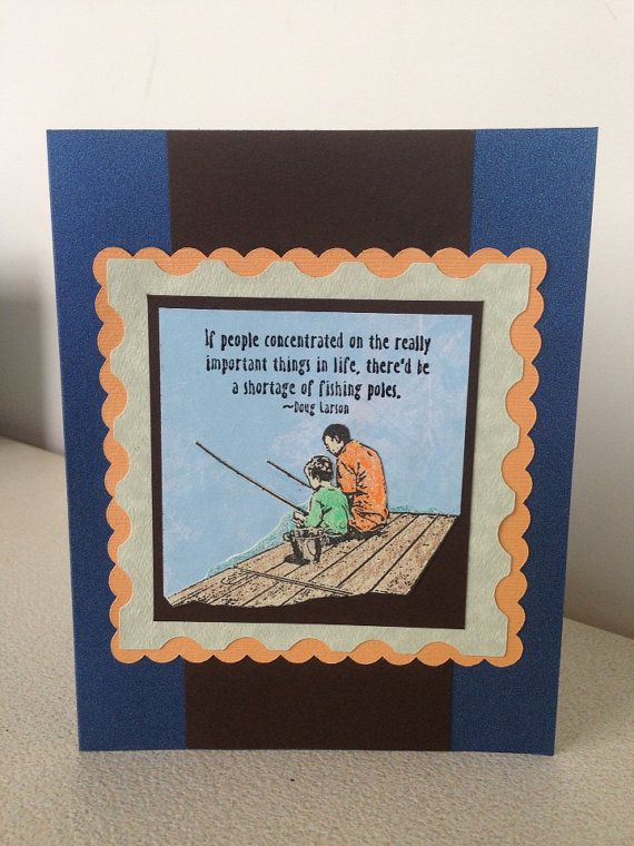 Fishing father 39 s day card for Father s day fishing card