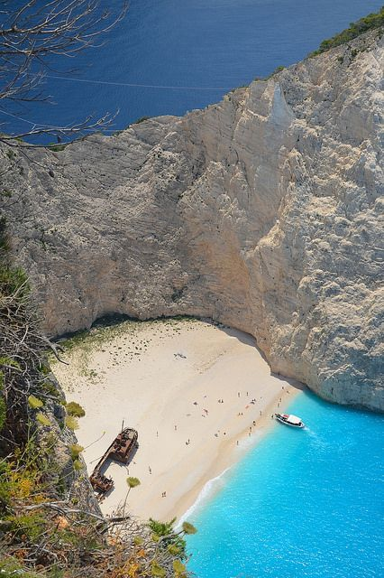 "kittie-noir: "" Navagio from above on Flickr. "" zakynthos"