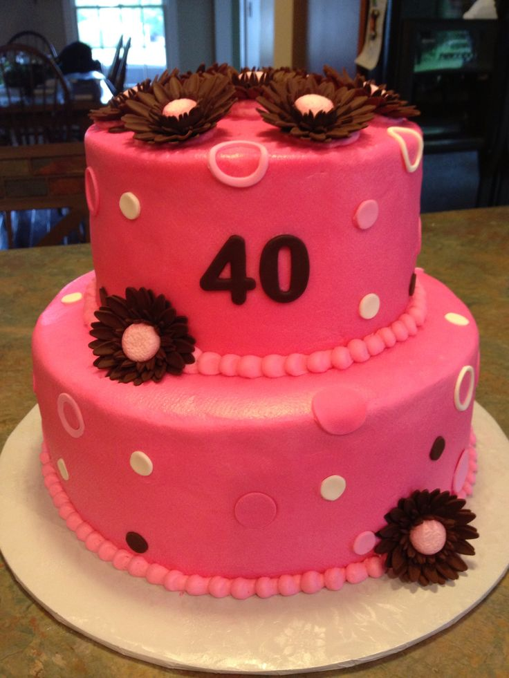 Cake Designs Jackie Brown Croydon : Pink and brown cake with Gerbera Daisies My tasty treats ...