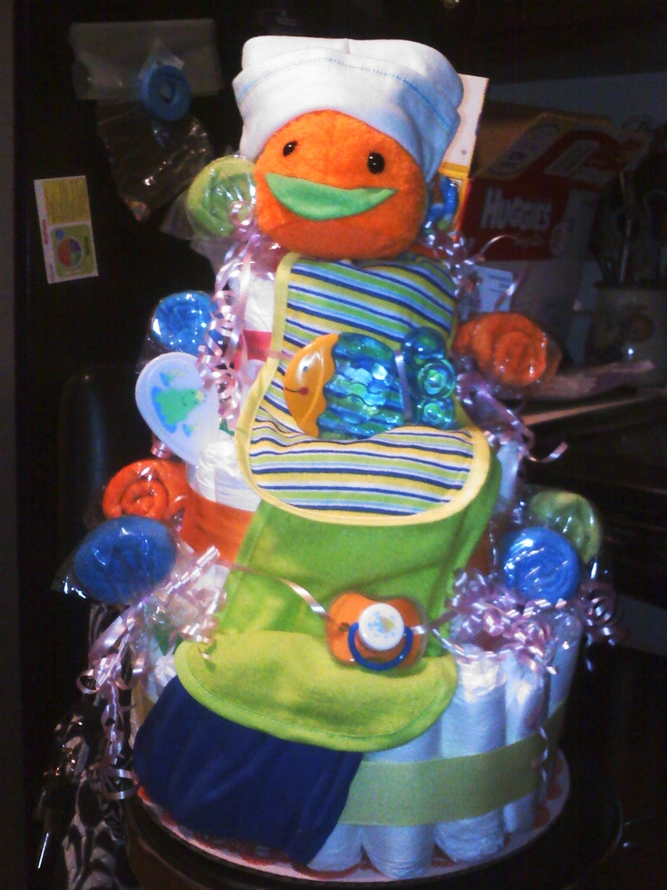 diaper cake for under the sea finding nemo baby shower