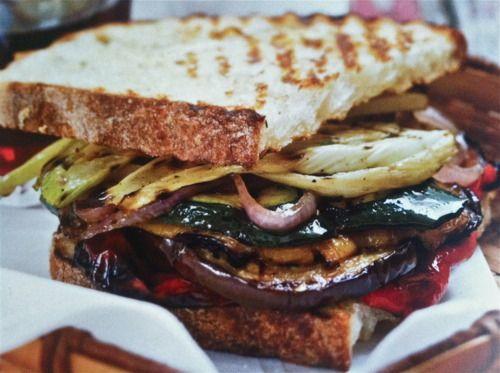 Grilled Vegetable Panini Recipe | food | Pinterest