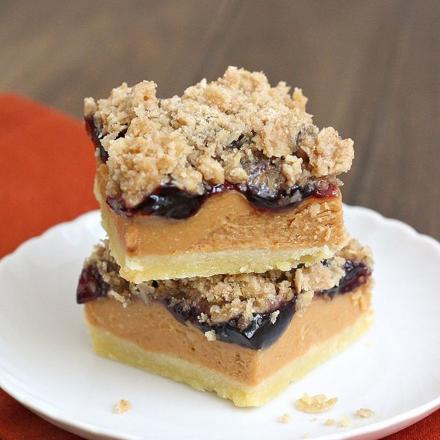 Peanut Butter and Jelly Bars... I made these last summer and can vouch ...
