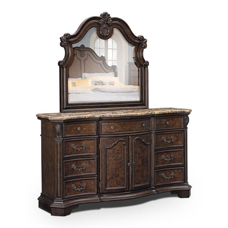monticello pecan bedroom dresser mirror