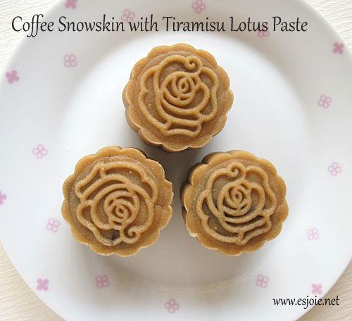 coffee snow skin mooncake | asian dessert | Pinterest