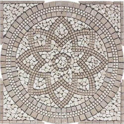 Floors 2000 Medallions Multi Colored Natural Stone Mosaic