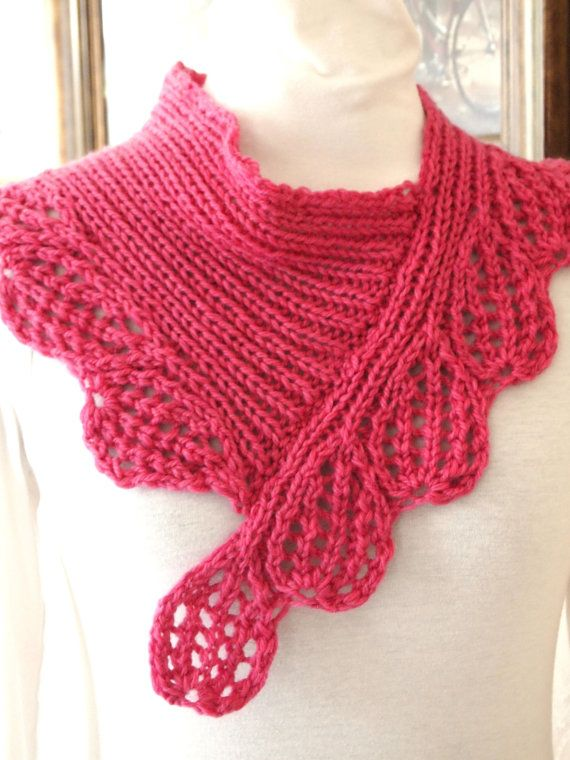 Hand Knitting Patterns : Boysen Berry Cowl PDF Hand Knitting Pattern by KnitChicGrace, $4.50