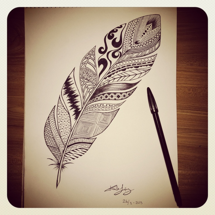 tribal feather tattoos pinterest