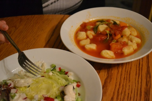 Gnocchi in Tomato Broth and Blue Cheese Iceberg Salad | Tea Time ...