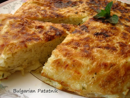 Bulgarian Patatnik....Shredded Potato and Cheese Pie with Mint