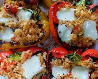 stuffed grilled peppers | Vegetable Dishes | Pinterest