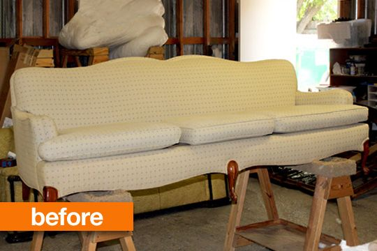 Oh Dear! Before & After of An Unexpected Upholstery Project Design*Sponge