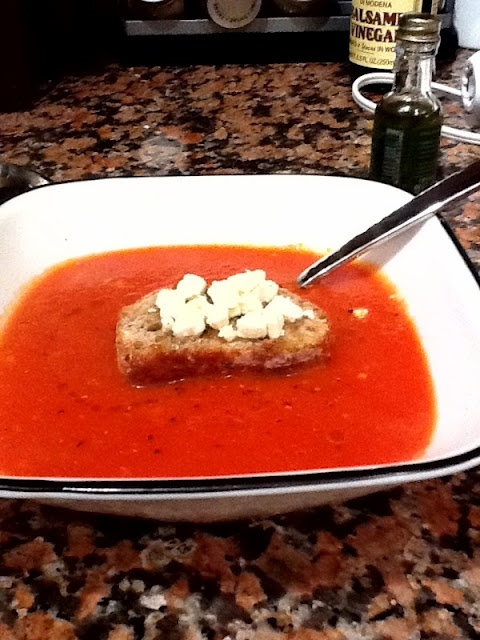 chef michael symon s spicy tomato amp blue cheese soup