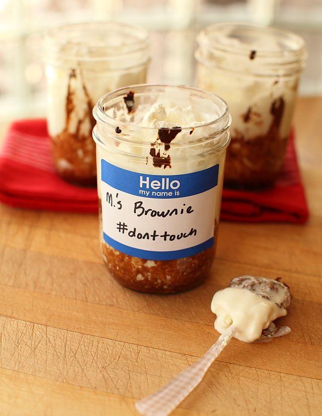 Ancho Yogurt Brownies In Jars