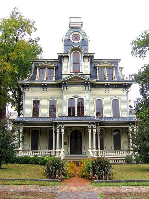 Wood Second Empire-style House Bf93be2e353c7bd70b07a76b778c85a5