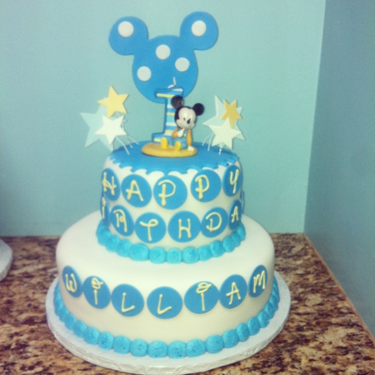 Mickey Mouse Baby Shower Cake Images : Mickey Mouse Baby Shower Cake! Baby shower ideas Pinterest
