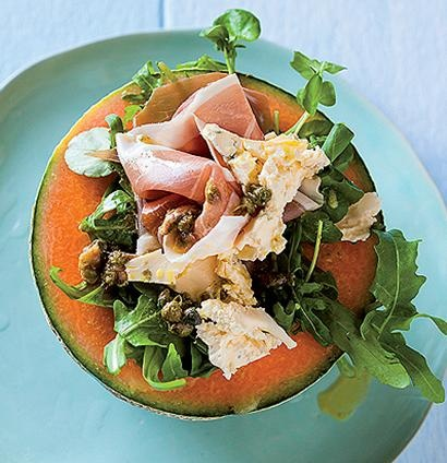 Melon, Cremezola and Parma ham salad | Food and Drinks | Pinterest