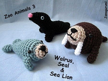 Crochet Patterns Zoo Animals : Amigurumi Zoo Animals 3 PDF Pattern