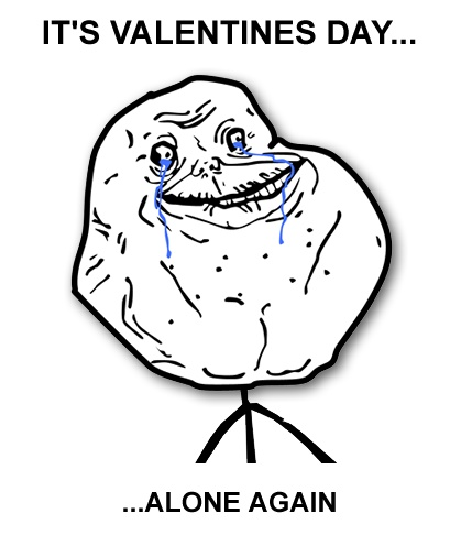 valentine's day alone forever