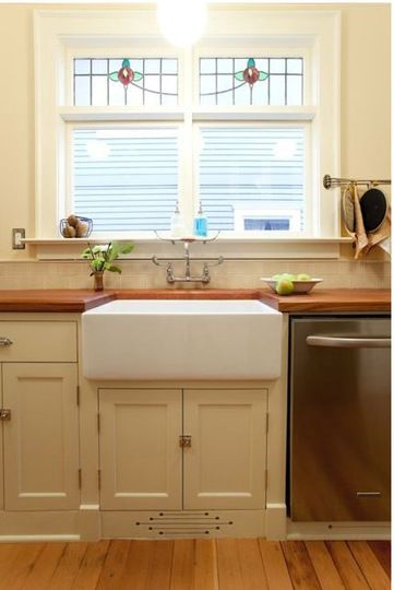 Farmhouse sink wall mounted faucet Kitchen