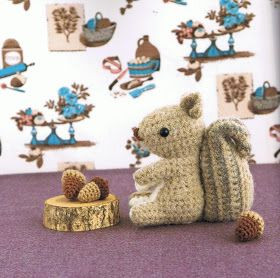 crochet squirrel pattern on Etsy, a global handmade and