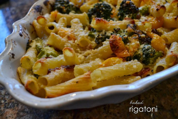 Parties and Pearls : Baked Rigatoni with Broccoli, Pancetta, and ...