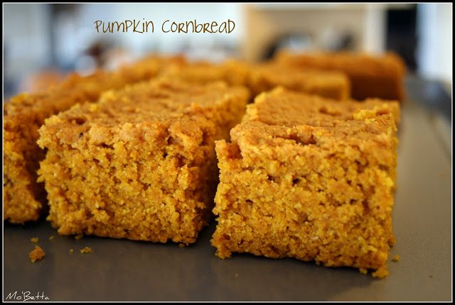 Makin' it Mo' Betta: Pumpkin Cornbread | breads/muffins | Pinterest
