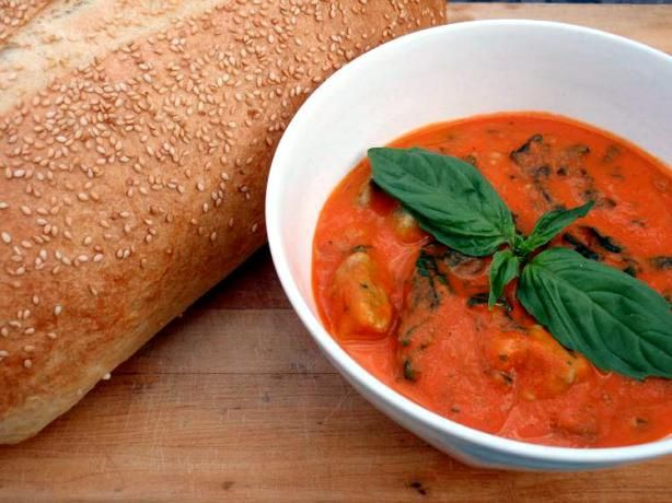 Roasted Red Pepper & Tomato Soup With Spinach Gnocchi | Recipe