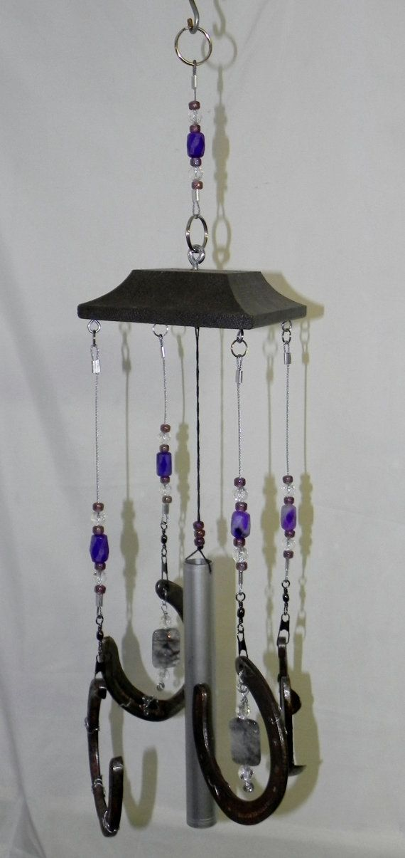 unique rustic wind chimes constructed with a combination. Black Bedroom Furniture Sets. Home Design Ideas