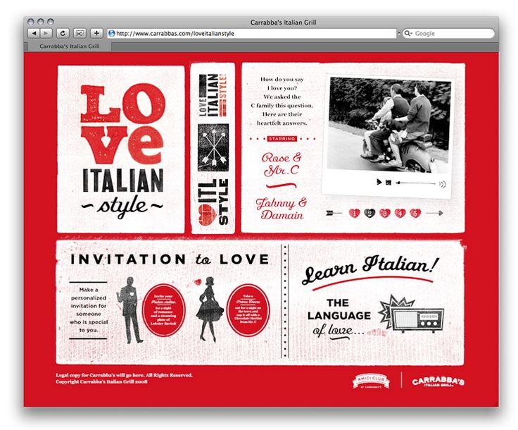 Love, Italian Style website by Erik Marinovich