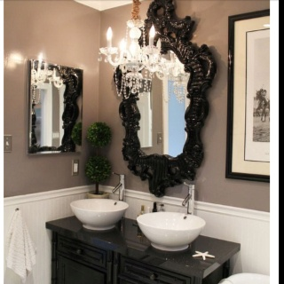 Gothic bathroom master bedroom bath ideas pinterest for Gothic bathroom ideas