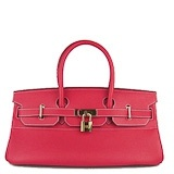 Hermes Birkin Handbag 42cm Red Gold