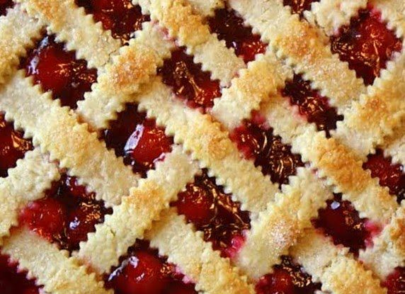 Michigan Cherry Pie with Lattice Crust | Recipes: Desserts | Pinterest