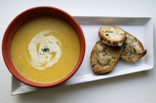 Winter Squash Soup with Gruyere Croutons | Savory | Pinterest