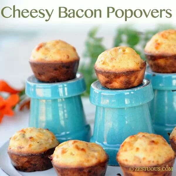 Cheesy bacon popovers | Bacon makes everything better | Pinterest