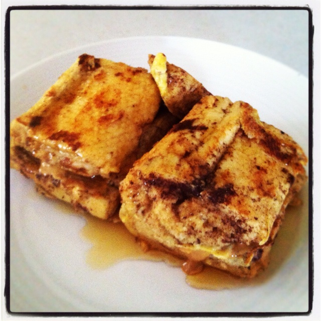 ... like this: peanut butter , stuffed french toast and french toast
