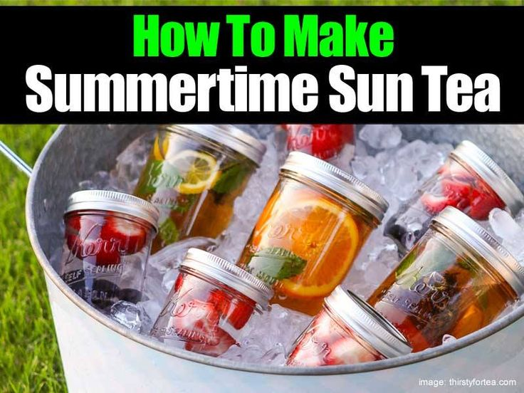 Sweet Summertime Sun Tea | Drinks | Pinterest